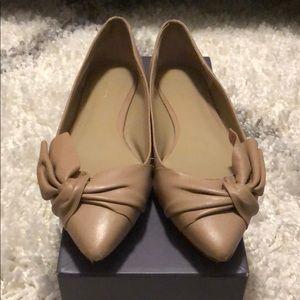Ann Taylor Blush Bow Flats